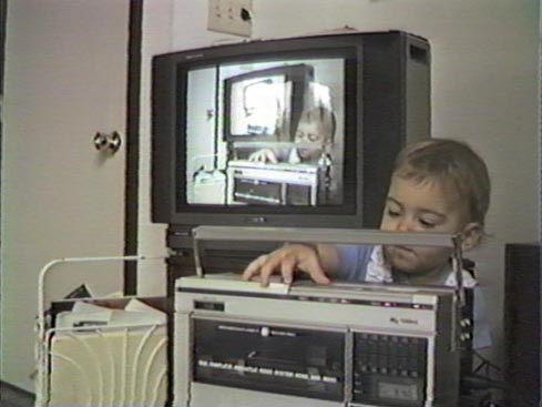 Baby Colin also liked making movies.
